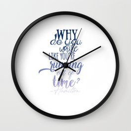 Running out of time | Hamilton Wall Clock