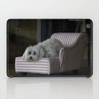 sofa iPad Cases featuring Me and My Sofa by Anthony M. Davis