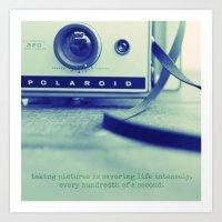 polaroid Art Prints featuring polaroid by darla winn photography