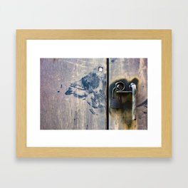 Locked Up / Photography Print / Photography / Color Photography Framed Art Print