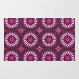 Kaleidoscope pink colors. Rug