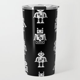 Robots Pattern Travel Mug