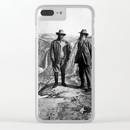 Teddy Roosevelt and John Muir - Glacier Point Yosemite Valley - 1903 Clear iPhone Case