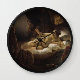 """Rembrandt Harmenszoon van Rijn, """"Danae"""", 1636 Wall Clock"""