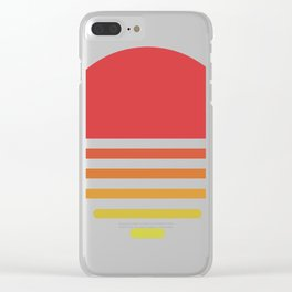 Vintage sunset Clear iPhone Case