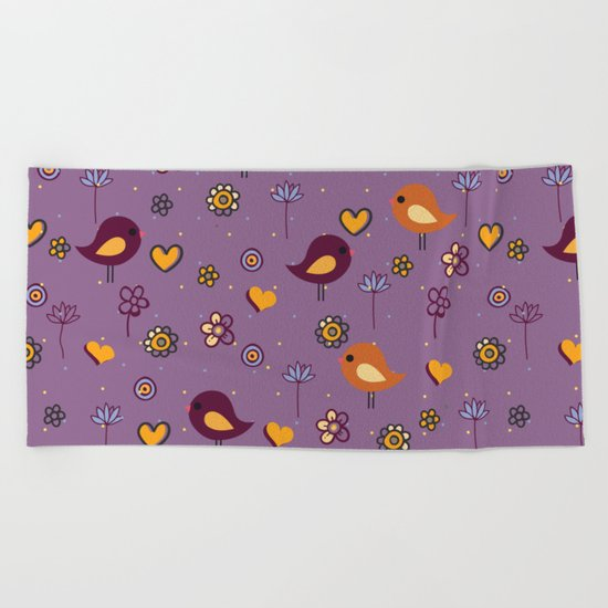 Cute Pattern Beach Towel