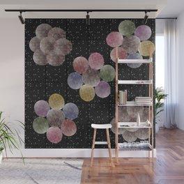 70s jewel tones stars Wall Mural