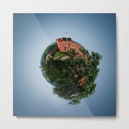 Tiny Planet 4 - Sky Castles Metal Print