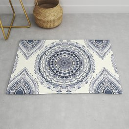 Supernova-In Navy, Dark Blue, & Grey Rug