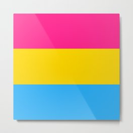 Pansexual Flag Metal Print