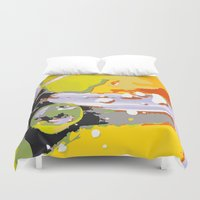 the thing Duvet Covers featuring wild thing by Matthias Hennig