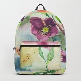 Lenten Roses - Watercolor Painting Backpack