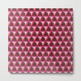 Red cubes Metal Print