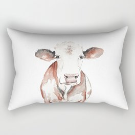 Cow Watercolor Rectangular Pillow