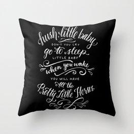 Pretty Little Horses Throw Pillow
