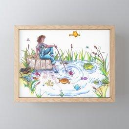Gone Fishing Framed Mini Art Print
