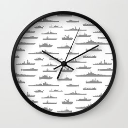 Battleship // Grey Wall Clock