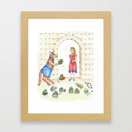To meet your handsome prince..you need to kiss a lot of toads Framed Art Print