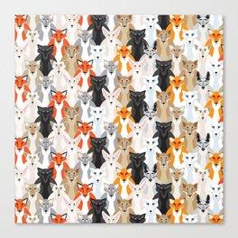 Friendly Foxes Canvas Print