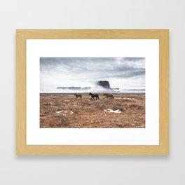 Horses in Monument Valley Framed Art Print