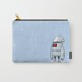 Robot Love Snow Carry-All Pouch
