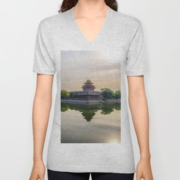 Forbidden City moat Unisex V-Neck