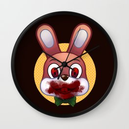 Robbie The Rabbit Bloodied Wall Clock