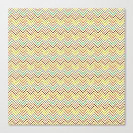 Modern geometrical pink yellow green chevron zigzag pattern Canvas Print