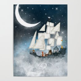 a nautical adventure (above the clouds) Poster