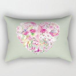 Blush Heart Rectangular Pillow