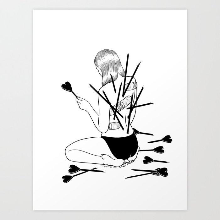 I fall in love too easily Art Print