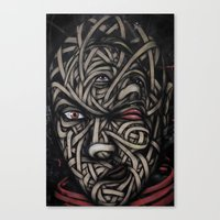 faces Canvas Prints featuring Faces by Suave-O