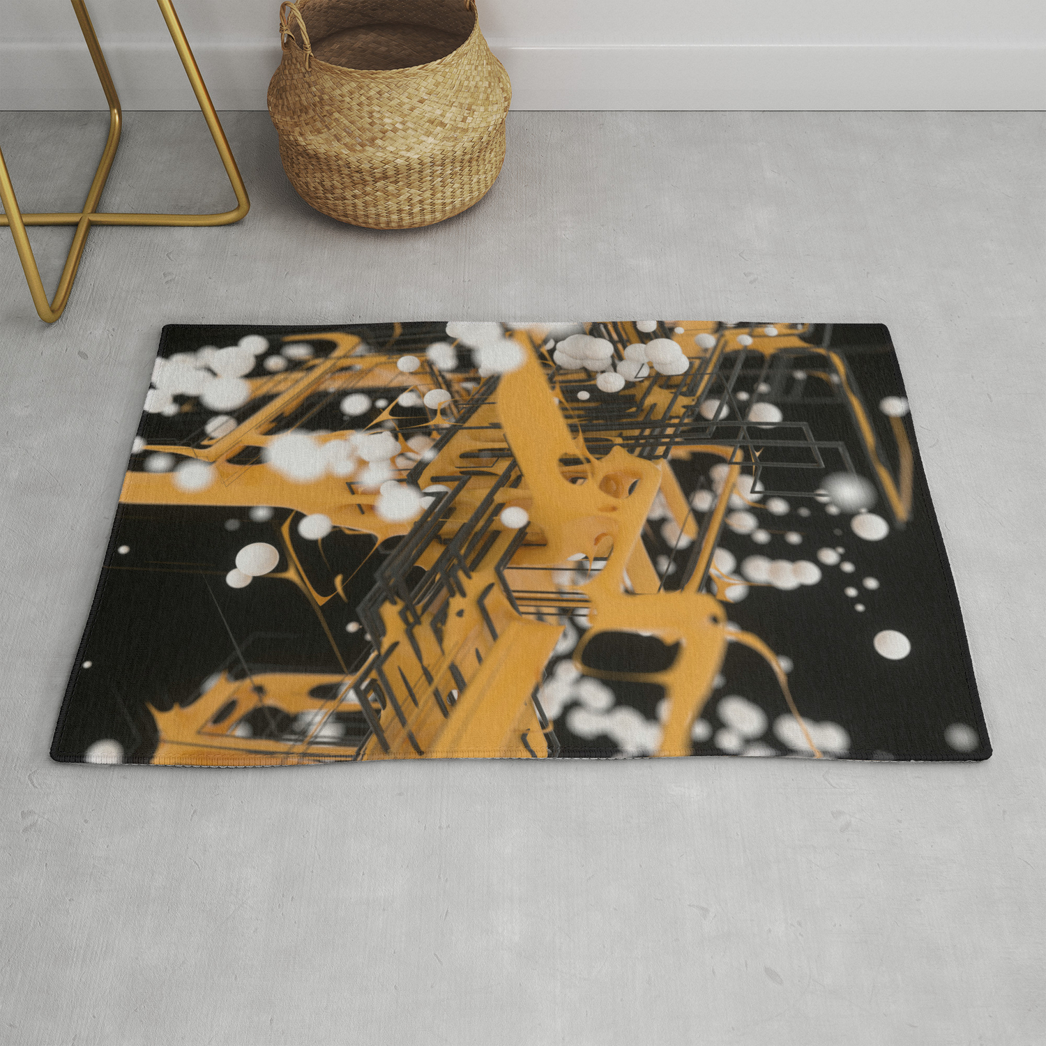 Data Network Rug By Dannyivan