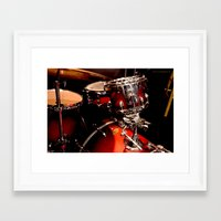 drums Framed Art Prints featuring Drums  by Alice Mari