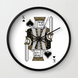 Omnia Oscura King of Spades Wall Clock
