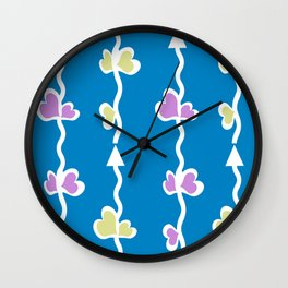 Arrow Stems Wall Clock
