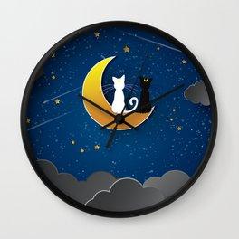 CAT STARRY NIGHT Wall Clock