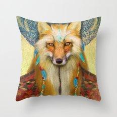 Wise Fox Throw Pillow