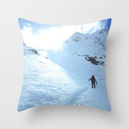 Mountain photography / Mountain & Snow Poster Throw Pillow