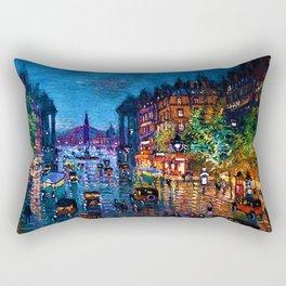 'Paris Boulevard' Night Scene Landscape Paitning by Konstantin Korovin Rectangular Pillow
