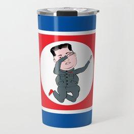 North Korea Dabbing Travel Mug