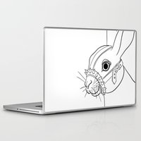 bdsm Laptop & iPad Skins featuring BDSM Rabbit by Rimma Ro-F