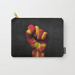 Macedonian Flag on a Raised Clenched Fist Carry-All Pouch