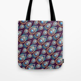 Turkish Blue Tote Bag