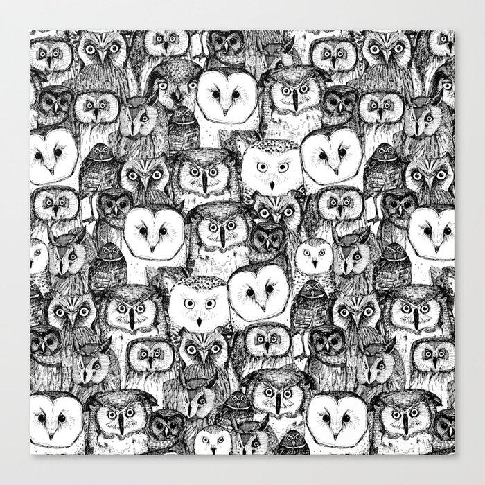 just owls black white Leinwanddruck