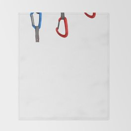 Rock Climbing Quickdraw Throw Blanket
