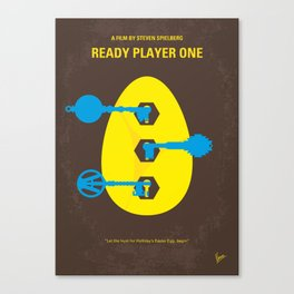 No929 My Ready Player One minimal movie poster Canvas Print