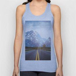 Mountain Road - Grand Tetons Nature Landscape Photography Unisex Tank Top