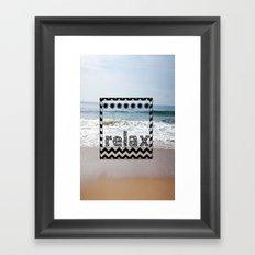 Relax Polaroid  Framed Art Print