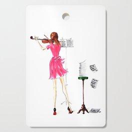 The Violin Player - Fashion Illustration Cutting Board